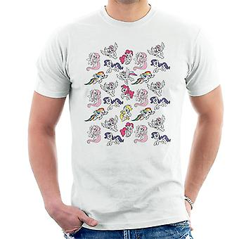 My Little Pony Flying Montage Men's Camiseta