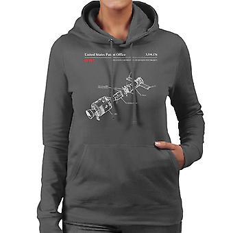 NASA Apollo Soyuz Docking Test Blueprint Women's Hooded Sweatshirt