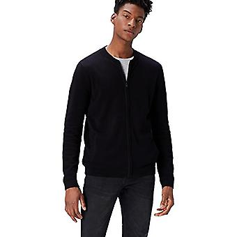 find. Men's Cotton Cardigan Sweater in Bomber Jacket Style, Black, XL (US L -...