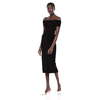 Brand - Lark & Ro Women's Off the Shoulder Sheath Sweater Dress, Black, X-Small