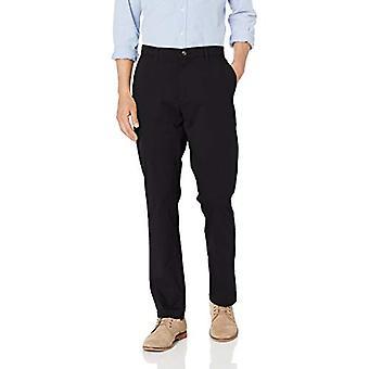 Essentials Men's Athletic-Fit Rento Venytys Khaki Pant, Musta, 36W x 31L