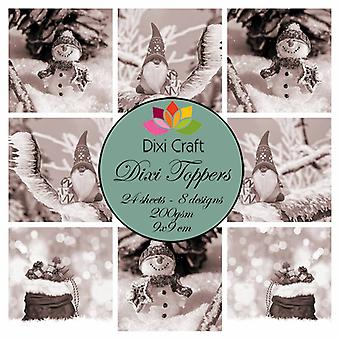 Dixi Craft Toppers Gnome & Snowman Brown