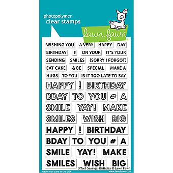 Lawn Fawn Offset Sayings: Anniversaire Timbres clairs