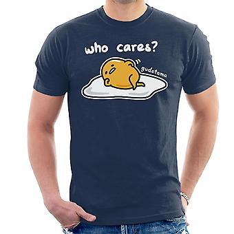 Gudetama Who Cares Men-apos;s T-Shirt