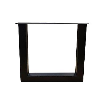 Siyah U masa ayağı 72 cm ayar ayakları ile (kol 8 x 8) (1 adet)