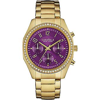 Caravelle Watch 44L197 - Plated Stainless Steel Ladies Quartz Chronograph