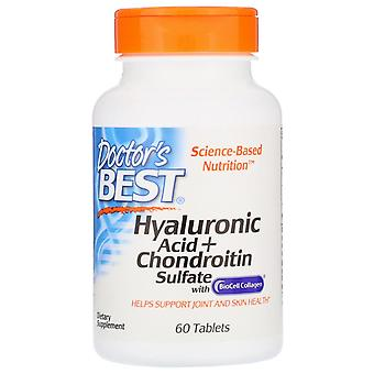 Doctor's Best, Hyaluronic Acid + Chondroitin Sulfate with BioCell Collagen, 60 T