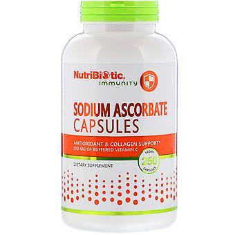 NutriBiotic, Immuniteit, Natrium Ascorbaat, 250 Veganistische Capsules