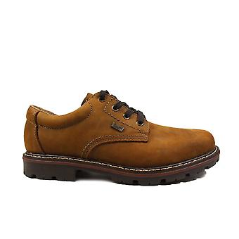 Rieker Nelson 17710-26 Brown Nubuck Leather Mens Lace Up Shoes
