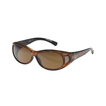 Sunglasses Women's Orange with Brown Lens VZ0007H3