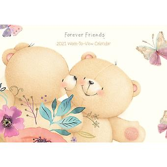 Forever Friends WeektoView A4 Planner Calendar 2021