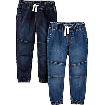 Simple Joys by Carter's Boys' Toddler 2-Pack Pull On Denim Pant, Heritage Rin...