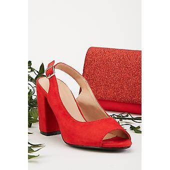 Peep Toe Slingback Heels