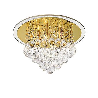 inspirert diyas - atla - flush tak 4 lys fransk gull, krystall
