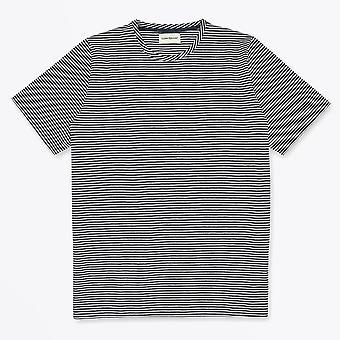 Oliver Spencer - Conduit - T-shirt à rayures en coton biologique - Marine
