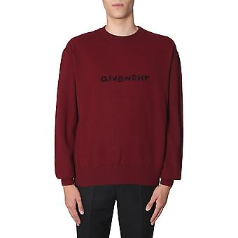 Givenchy Bm908p4y3j502 Men's Burgundy Wool Maglione