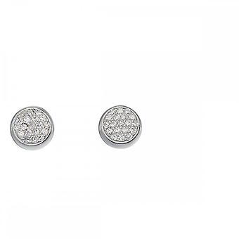 عناصر الفضة بفف زيركونيا مسمار أقراط E5522C
