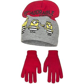 Minions bous hat and gloves set mns4309hat