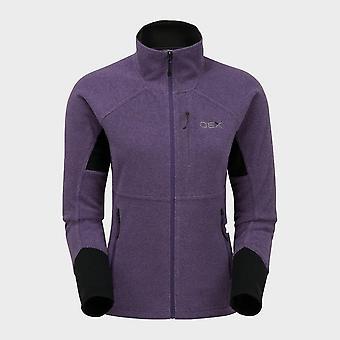 New OEX Women's  Igneous Stretch 250 Fleece Jacket Purple