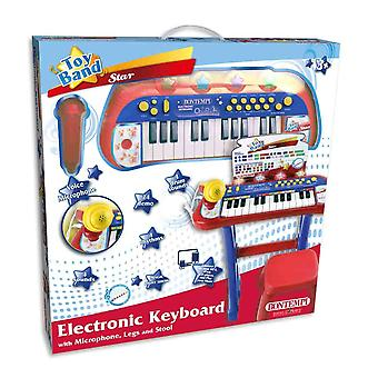 bontempi 24 key electronic keyboard with stool and microphone for ages 3+