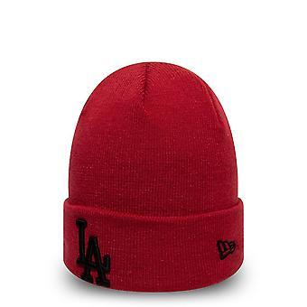 New Era Mlb Los Angeles Dodgers Essential Red Cuff Knit