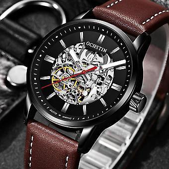 OCHSTIN 62001 Automatiska mekaniska klockor självlysande display läderrem klocka
