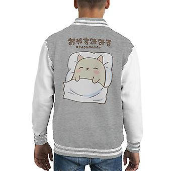 Oyasumimir Cat Kid's Varsity Jacket