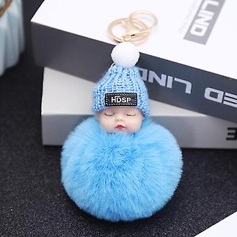 Cute Winter Sleep Doll, Plush Pendant Keychain