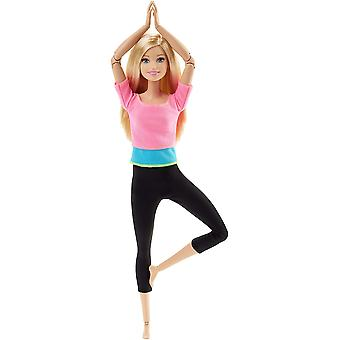 Barbie végtelen mozog baba rózsaszín felső