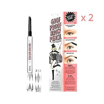 2 x Benefit Goof Proof Brow Pencil - 4.5 Brown