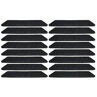 16Piece 18CM Black Trapezoid Anti Slip Rug Gripper for Carpet Floor Home