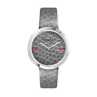 Furla Kvinder'S Min Piper Gray Dial Kalveskind Læder Watch