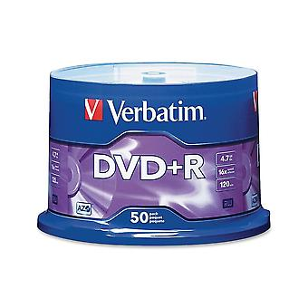 Verbatim Dvd+r 4.7gb 16x 50pk Husillo Grabable Media Disco Compacto Escribir Dvd