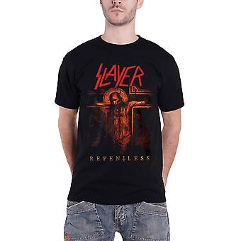 Slayer T Shirt Repentless Album Cover Crucifix Logo Official Mens New Black