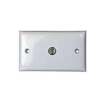 Pal Socket Outlet To F Type Wall Plate For Tv