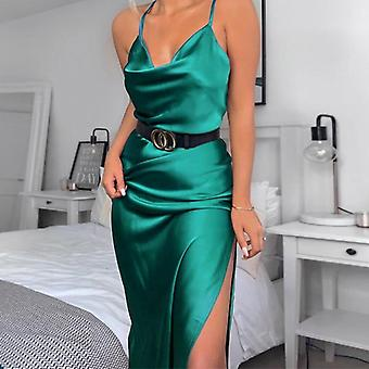 Sexy Women's Maxi Strap Backless Split Long Fall Elegant Ladies Party Club