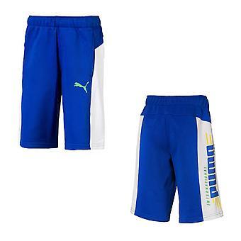 Puma Alpha Bermuda Boys Sweat Shorts Lounge Casual Pants Bleu 854574 29