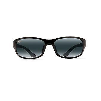 Maui Jim Twin Falls Polarised 417 02J Gloss Black/Neutral Grey Sunglasses