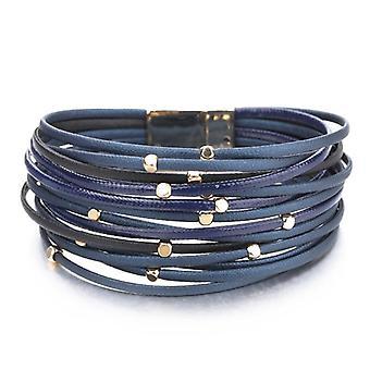 Metal Beads Leather Bracelets