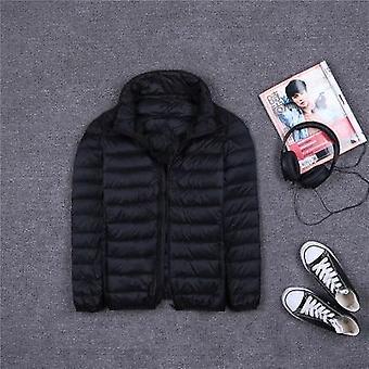 الخريف / الشتاء 90٪ الأبيض بطة أسفل معطف، الرجال مقنعين فائقة خفيفة أسفل السترات