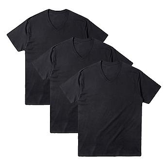Men's V Collar Short Sleeve 100% Cotton T-shirts Pack Of 3