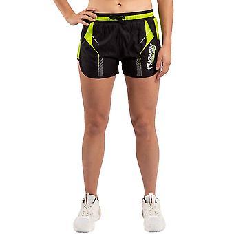 Venum Training Camp 3.0 Womens Training Shorts Black/Neo Yellow