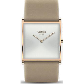 VOTUM - Reloj de señoras - SQARE - Puro - V02.20.40.04 - correa de cuero - beige