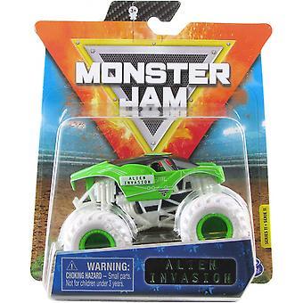 Monster Truck Monster Jam Alien Invasion Silber