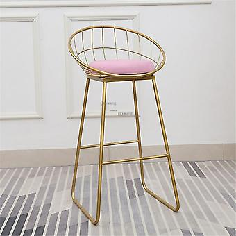 New Stool Bar Simple Wrought Iron Chair Modern Dining Pub Accessories
