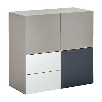 HOMCOM Sideboard Storage Cabinet Floor Standing Cupboard Cube with Drawers for Dining Room Kitchen Living Room Bedroom