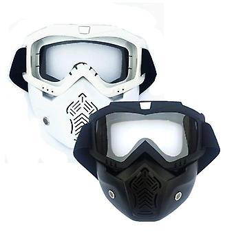 Face Tactical With Protective Goggles Compatible