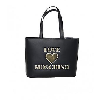 Laukku Nainen Rakkaus Moschino ostoksilla Musta Tekonahka Bs21mo38 Jc4051