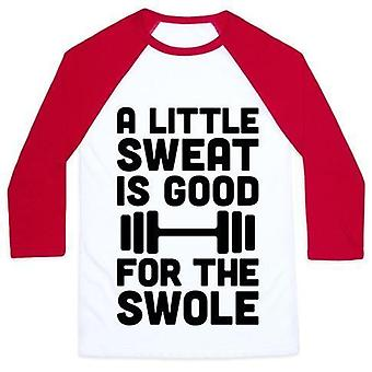 A little sweat is good for the swole unisex classic baseball teevz69011