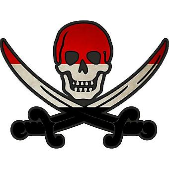 ملصق ملصقا القراصنة جاك rackham calico العلم البلد YEM اليمن